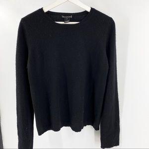 Holt Renfrew black cashmere crew neck sweater